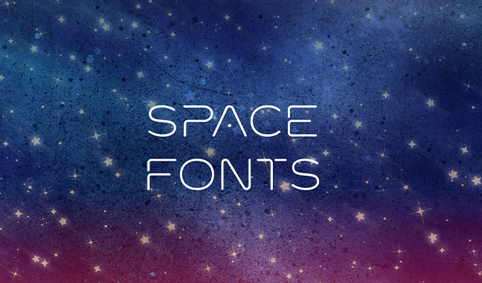 20 stellar fonts from outer space creative market blog for Outer space urban design