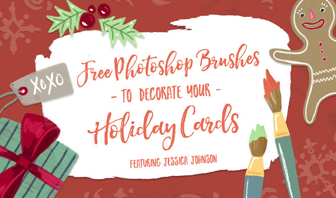 Free Photoshop Brushes to Decorate Your Holiday Cards