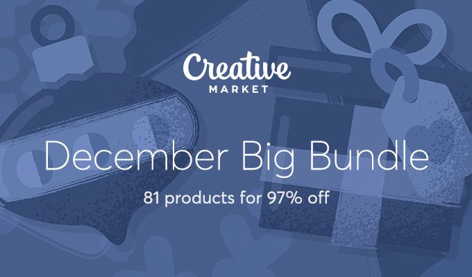 December Big Bundle: Over $1300 in Design Goods For Only $39!