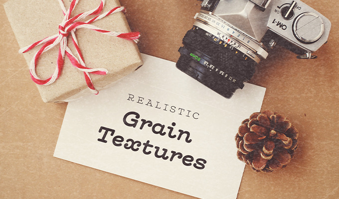 Realistic Grain Textures for Worn Out Photos, Text & Graphics