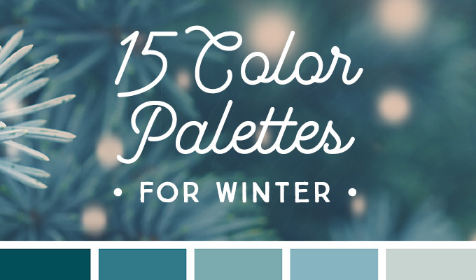 15 Downloadable Color Palettes For Winter