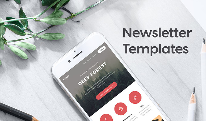 Stunning Newsletter Templates For Print Email Creative Market - Print newsletter templates