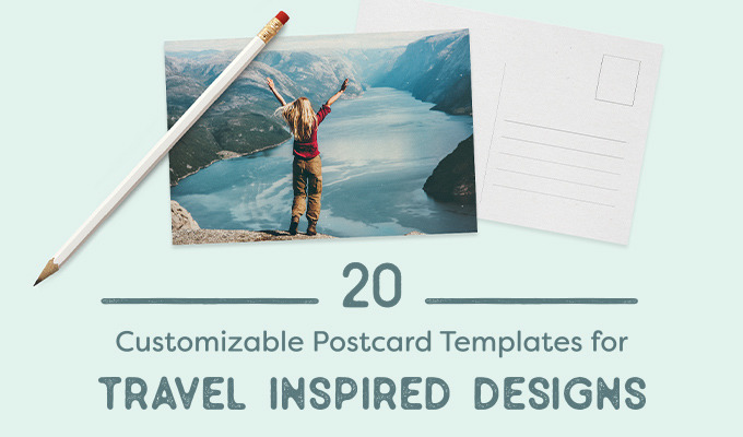 20 Customizable Postcard Templates For Travel Inspired Designs