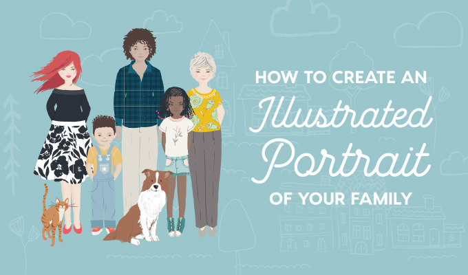 How to Create an Illustrated Portrait of Your Family