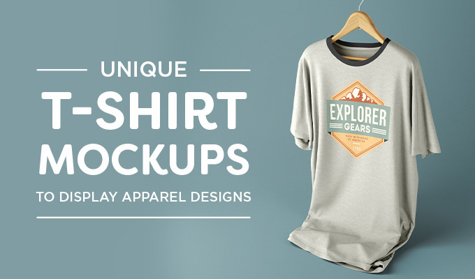 f5bdb990 Unique T-Shirt Mockups to Display Apparel Designs. By Creative Market ...