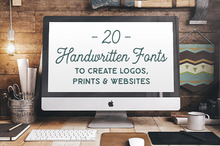 20 Handwritten Fonts to Create Logos, Prints, and Websites