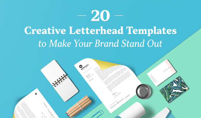 20 creative letterhead templates to make your brand stand out