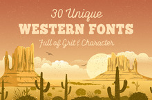 30 Unique Western Fonts Full of Grit &amp&#x3B; Character