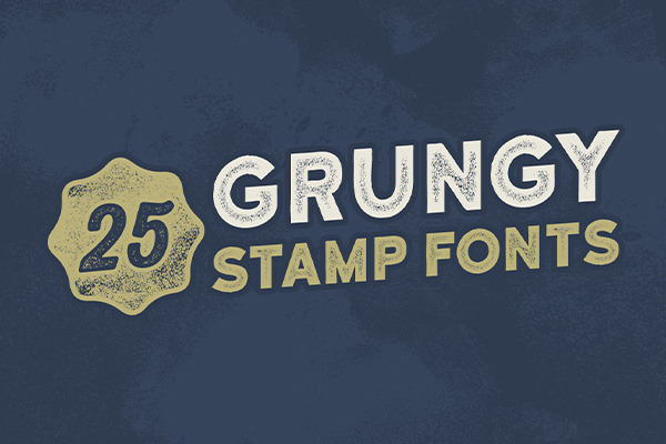 25 Vintage Grungy Stamp Fonts For The Perfect Letterpress Effect