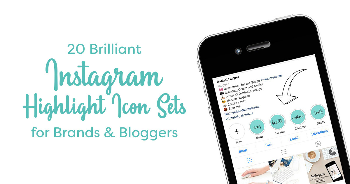 20 Brilliant Instagram Highlight Icon Sets For Brands Bloggers Creative Market Blog