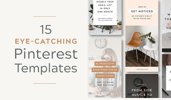 15 Eye-Catching Pinterest Templates to Make Your Boards Stand Out