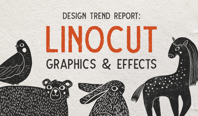 Design Trend Report: Linocut Graphics and Effects