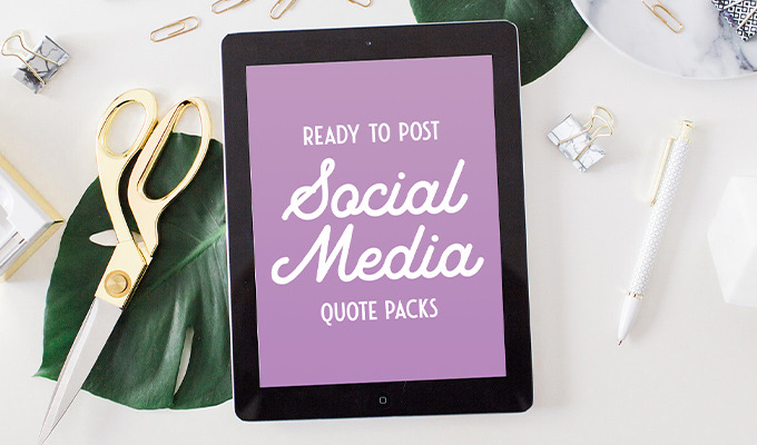 35 Ready To Post Social Media Quote Packs Creative Market Blog
