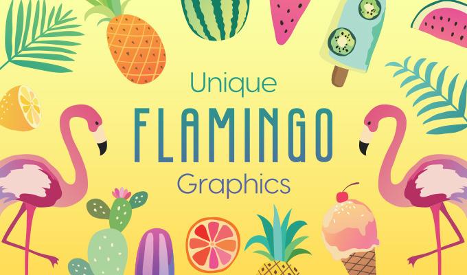 Unique Flamingo Graphics to Design Your Own Paradise
