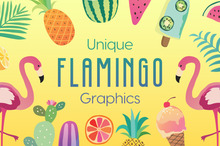 Unique Flamingo Graphics to Design Your Own Paradise