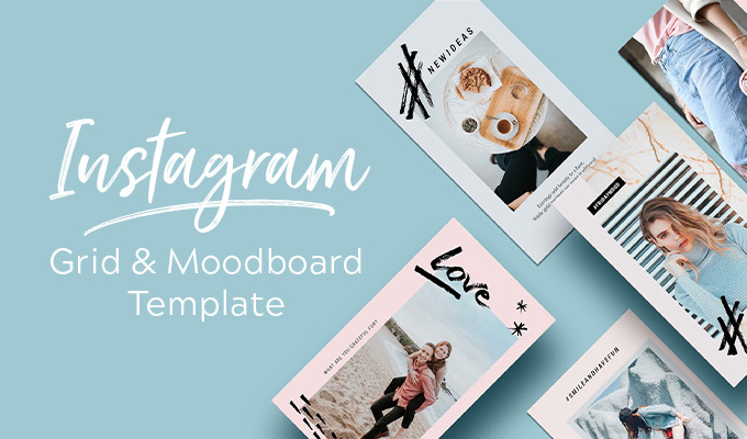 Free Download Instagram Grid Planner Moodboard Template
