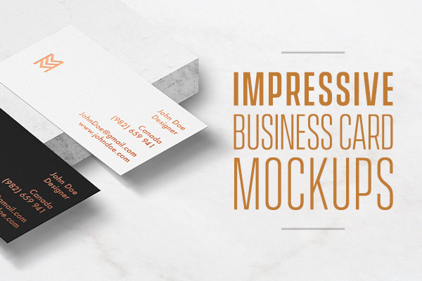 Impressive Business Card Mockups to Showcase Your Work