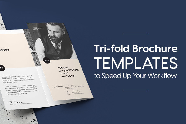 Tri-fold Brochure Templates to Speed Up Your Photoshop & InDesign W...