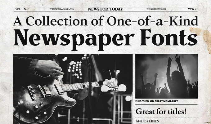 A Collection of One-of-a-Kind Newspaper Fonts