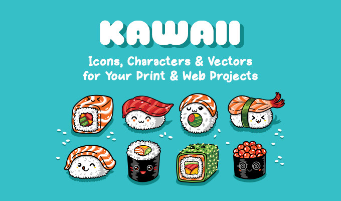 Kawaii Icons, Characters & Vectors for Your Print & Web Projects