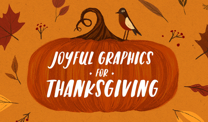 A Collection of Joyful Thanksgiving Graphics, Templates and Fonts