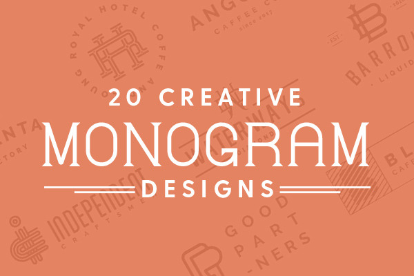 20 Creative Monogram Designs to Inspire Your Logo