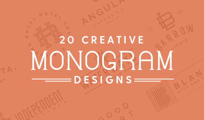 20 Creative Monogram Designs To Inspire Your Logo Creative Market Blog