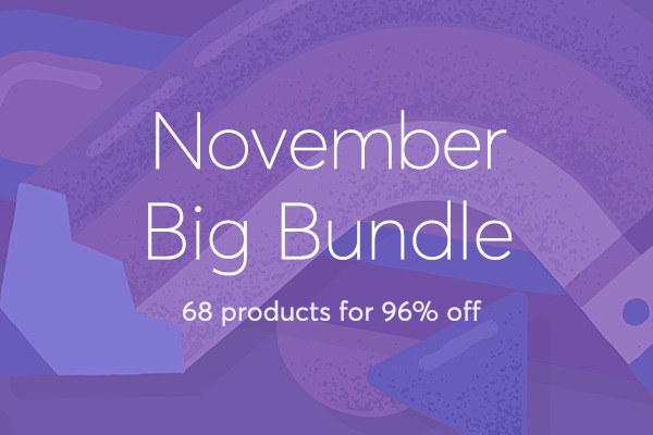 November Big Bundle: Over $1,186 in Design Goods For Only $39!