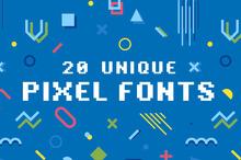 20 Unique Pixel Fonts to Bring the 80s Back