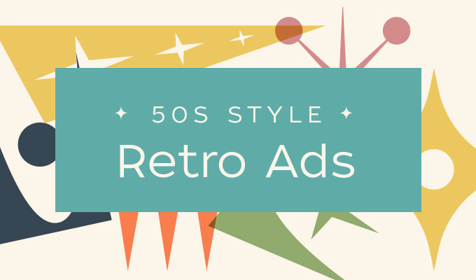 Design Trend Report 50s Style Retro Ads Creative Market Blog