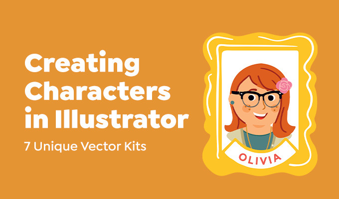 How To Create Characters in Illustrator: 7 Unique Vector Kits