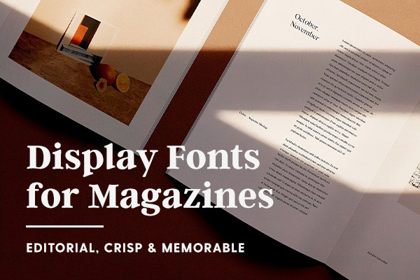 The Best Fonts for Magazine Design: Editorial, Crisp & Memorable
