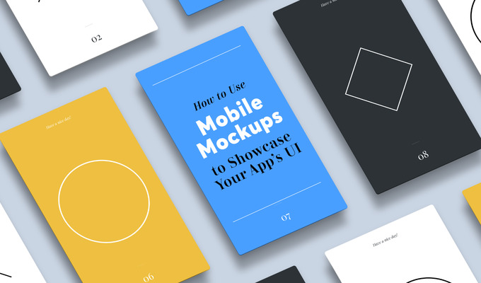 How To Use Mobile Mockups to Showcase Your App's UI