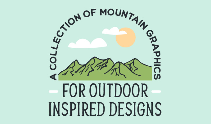 A Collection of Mountain Graphics for Outdoor Inspired Designs