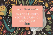 A Collection of Garden-themed Vector Graphics and Images