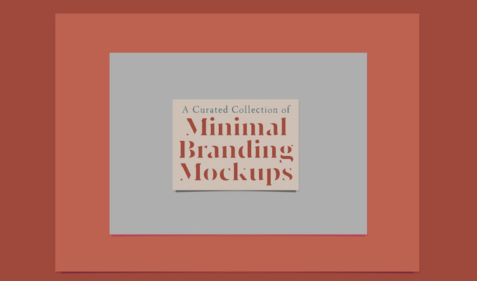 A Curated Collection of Minimal Branding Mockups