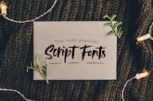 The Most Popular Script Fonts of 2019