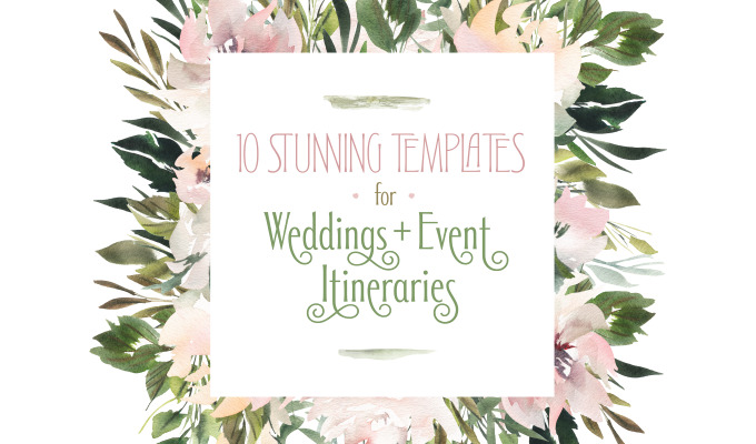 10 Stunning Templates to Design an Itinerary for Weddings and Events