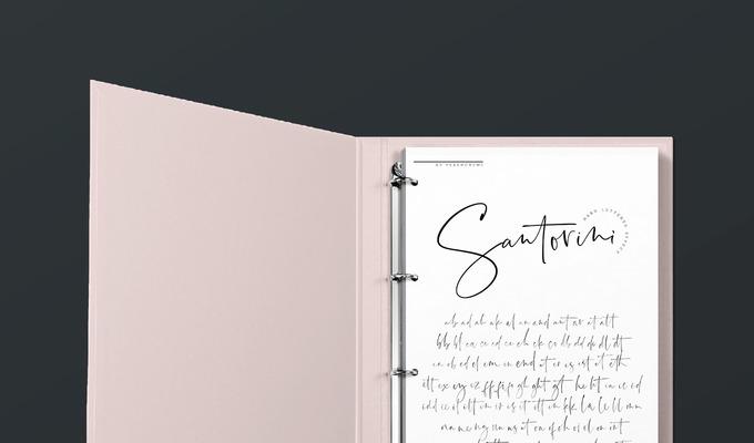 Behind the Font: Santorini, a Luxury Signature Font by PeachCréme